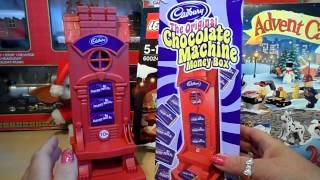 pre usa ban british cadbury chocolate money box machine with real uk recipe bars