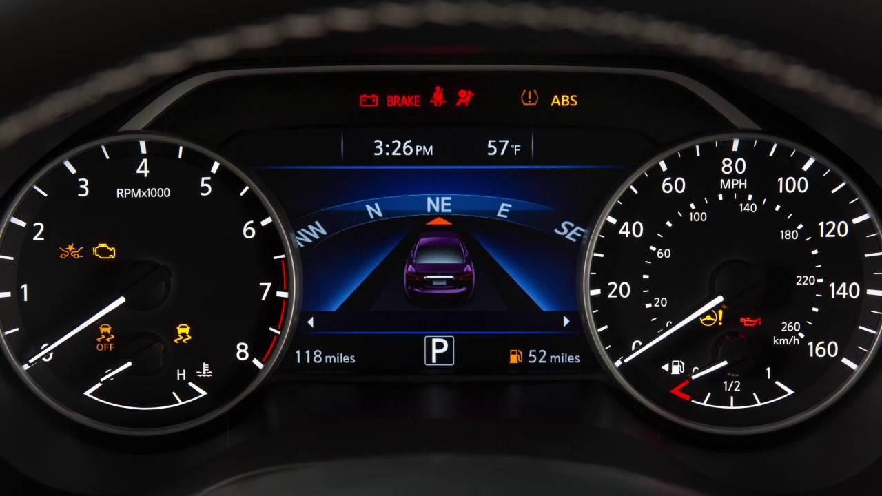 2017 Nissan Maxima Warning And Indicator Lights