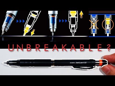 Testing The Unbreakable Japanese Pencil | Zebra Delguard Mechanical Pencil