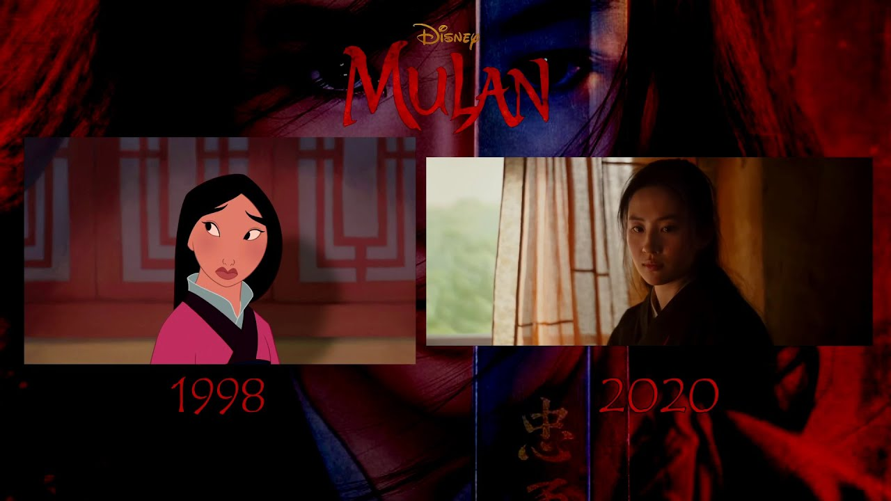 Mulan 1998 Vs 2020 Teaser Trailer Comparison Youtube