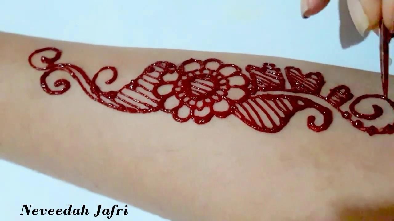 Red Henna Tattoo: ᴴᴰ Fresh Henna Red Colour Designs