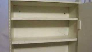 Vintage Wooden Bathroom Medicine Cabinet