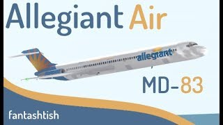 ROBLOX | Allegiant Air MD-83 vol examen.