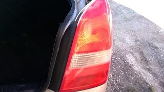 Nissan Primera P12 replacement bulbs in the rear lamps