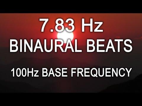 7.83Hz Schumann Earth Resonance 8 Hours Theta Binaural Beats 100Hz Base Frequency