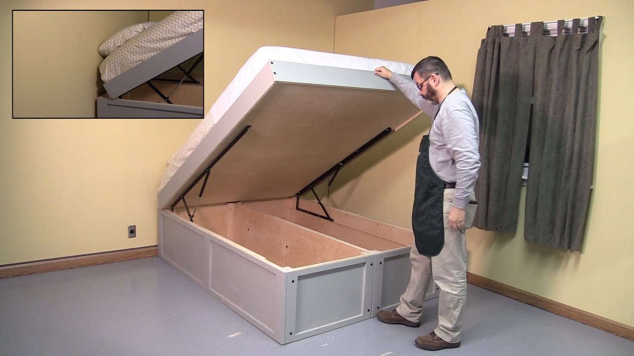 Gas Lift Storage Bed Ikea Selby Bed Hardware Project Build With Woodcraft S George Snyder