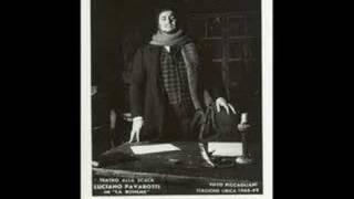 Luciano Pavarotti - O Mimi, tu piu non torni (1961 debut)