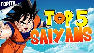 Top 5 des meilleurs Saiyans