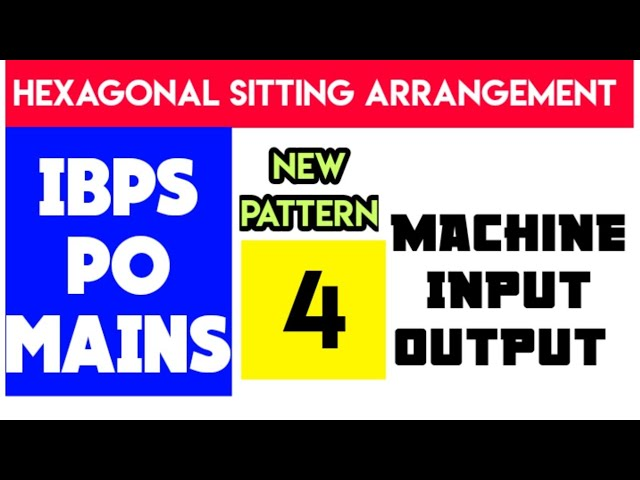 Machine input output for ibps po mains #4