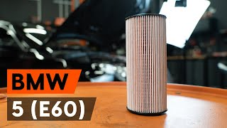 Jak vyměnit olejový filtr a motorove oleje na BMW E60 [NÁVOD AUTODOC]