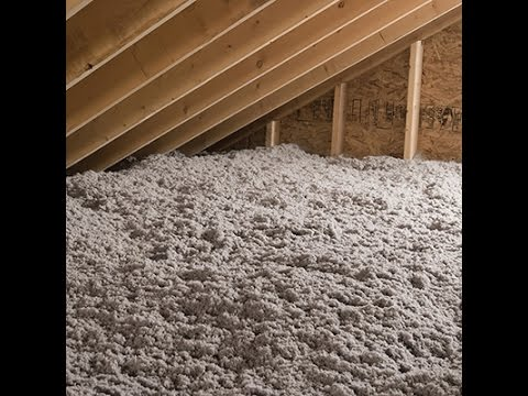 How To Insulate An Attic With Cellulose To Save On Energy