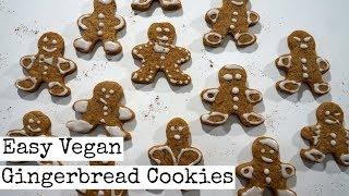 Easy Vegan Gingerbread Men Cookies