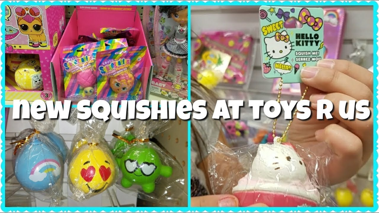 Squishy Squooshems Toys R Us : LICENSED SQUISHIES AND NEW SQUISHIES AT TOYS R US - YouTube