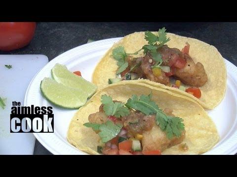 Crispy Fish Tacos With Fresh Salsa - Easy Fish Taco Recipe