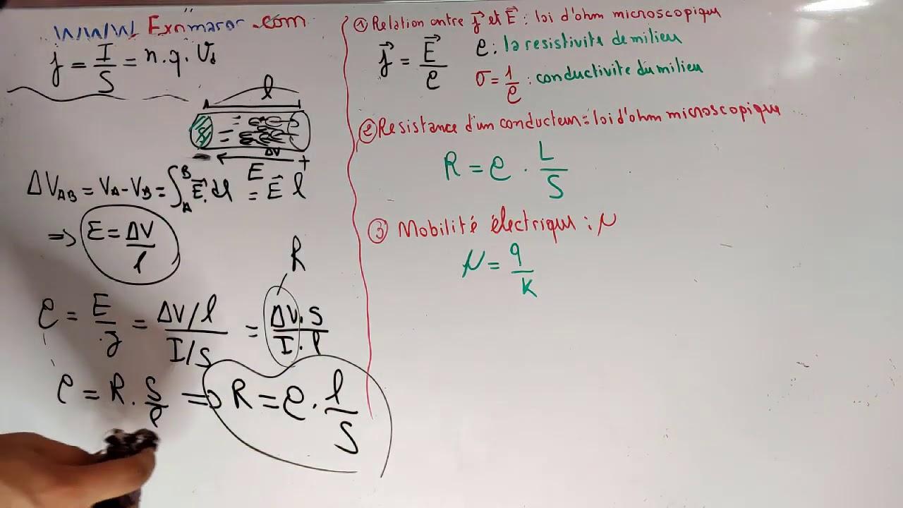 Ep #02/ Électrocinétique:loi d'ohm microscopique/mobilité électrique  Partie 02