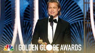 Brad Pitt Wins Best Supporting Actor   2020 Golden Globes