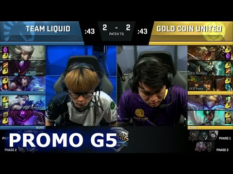 Team Liquid vs Gold Coin United | Game 5 Promotion / Relegation S7 NA LCS Summer 2017 | TL vs GCU G5