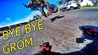 GROM GOES FLYING!!