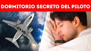 El lugar secreto donde los pilotos duermen mientras vuelan
