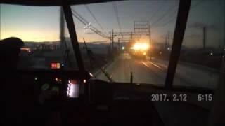 近鉄 名古屋~大和八木 雪景色のUL前面展望