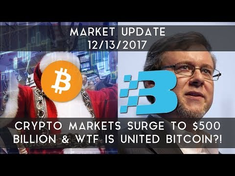 Daily Update (12/13/17) | Crypto markets surge to $500B & WTF is United Bitcoin?