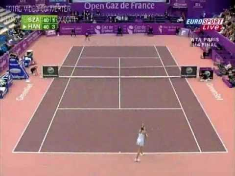 2008 Paris Quarterfinal Szavay vs. Hantuchova Highlights