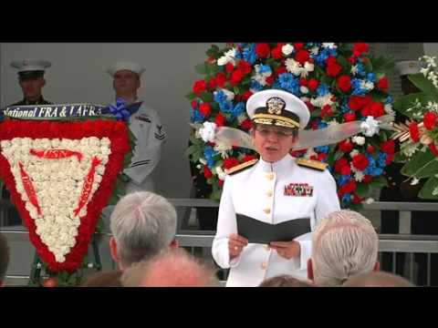 PEARL HARBOR 75th: (FULL) Double Interment ceremony At USS Arizona Memorial.