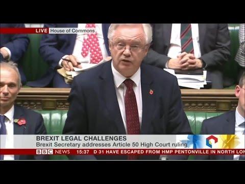 David Davis   Brexit Minister   November statement