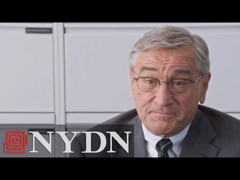 "De Niro Walks Out of Movie Interview ""The Intern"""