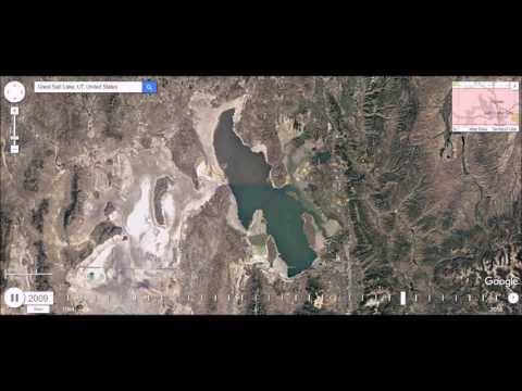 Great Salt Lake Evaporating, Utah - Time Lapse