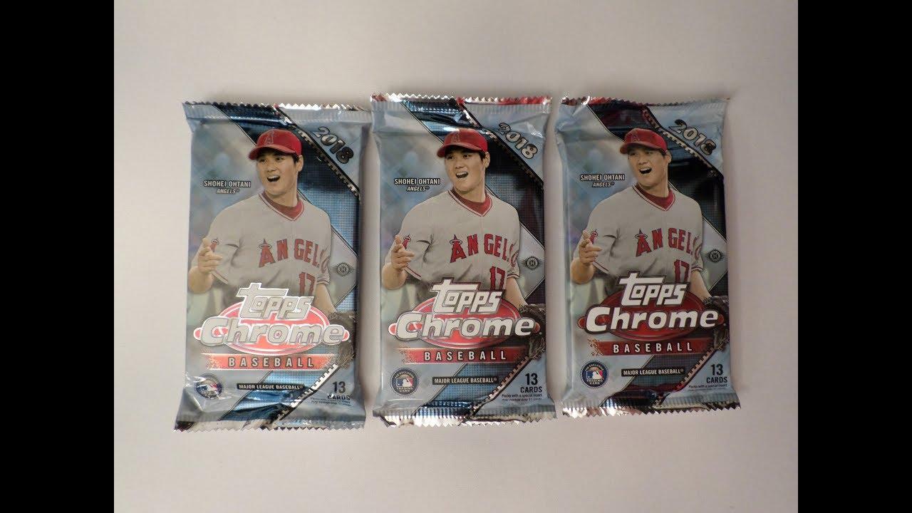 Opening 3 Jumbo Hobby Packs Of 2018 Topps Chrome Baseball Cards 2 Hits