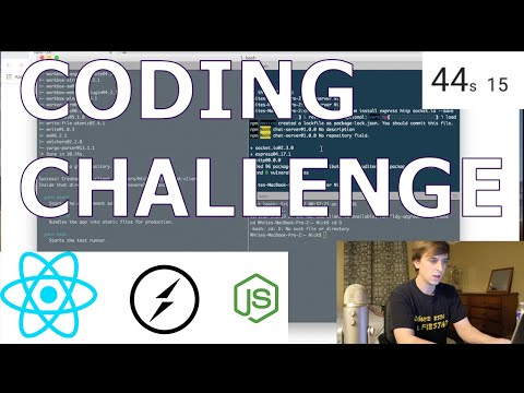 Coding Challenge | Real Time Chat App | React & Socket IO