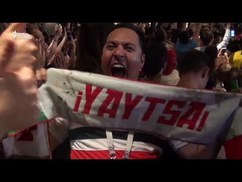 Как в Москве болели за Россию - в матче против Египта
