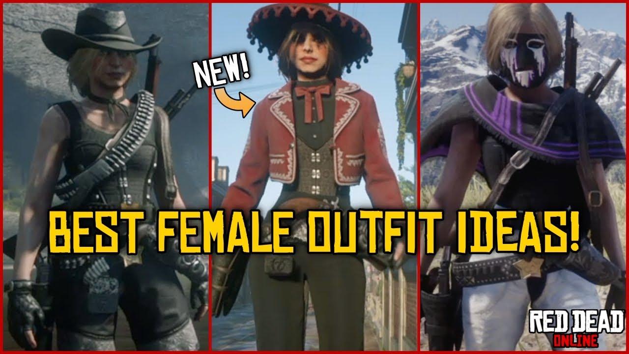 Tryhard Cute Female Outfits Rdr2 Online Free Roam Showcase Youtube