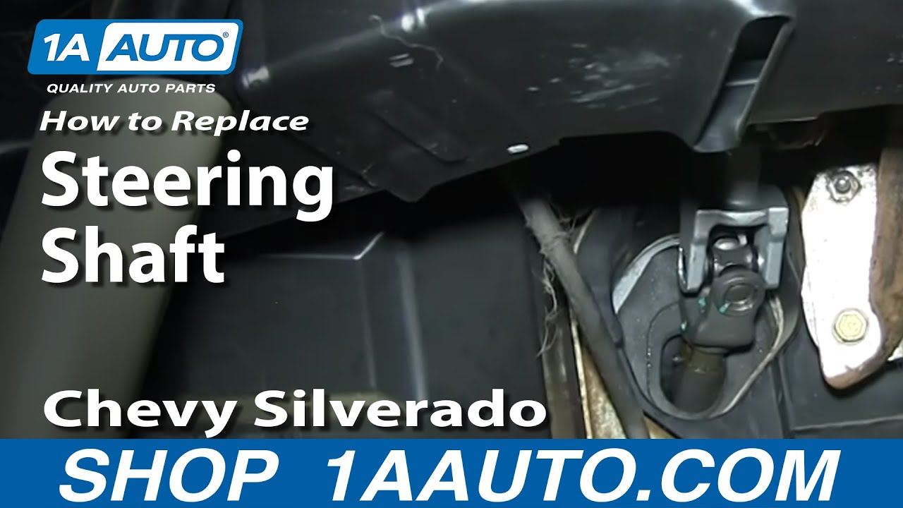 hight resolution of how to fix clunking steering shaft 2000 06 silverado sierra suburban tahoe yukon