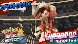 Pokemon Sun & Moon Papercraft ~ Lycanroc Midnight Form ~