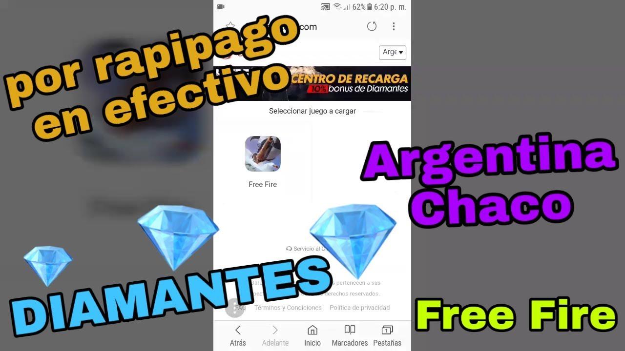 3e40c419cbde Como comprar DIAMANTES por rapipago Free Fire Argentina - YouTube