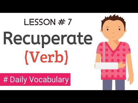 Lesson # 7   I Recuperate I English Vocabulary #VocabMania
