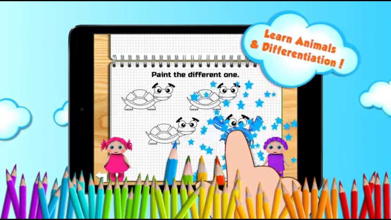 early learning games for toddlers preschoolers preschool edupaint by cubic frog apps youtube - Paint Games For Toddlers
