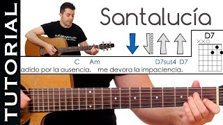 Como tocar SANTALUCIA - Miguel Ríos / Roque Narvaja en guitarra acústica