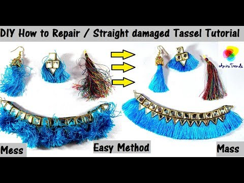 How to Repair/ Straight Tassel Earring or Necklace Easy at home DIY Tutorial