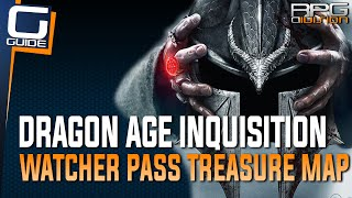 Dragon Age Inquisition - Map of Watchers Pass Treasure (Emerald Graves)