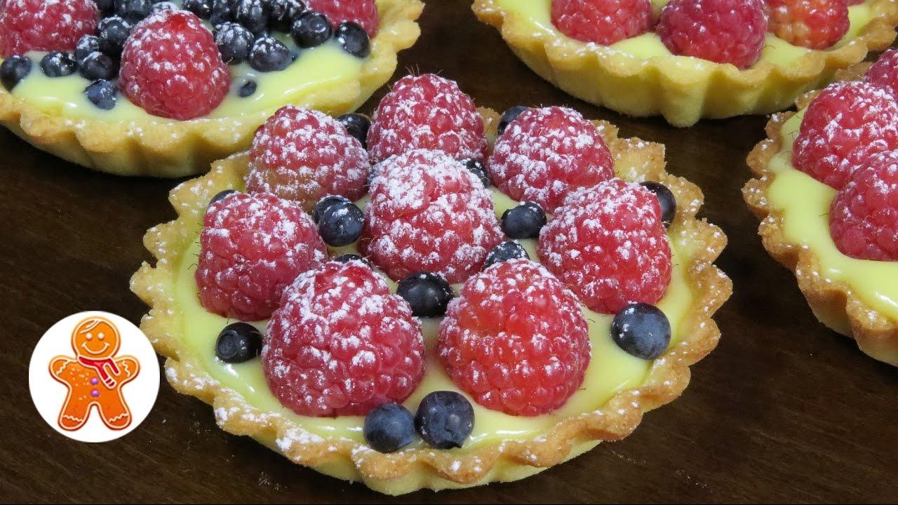 рецепт десерта тарталетки с кремом видео