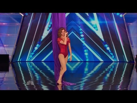 America's Got Talent S09E04 Laura Dasi Aerial Silk Acrobatic Act