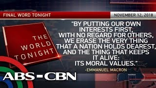 The World Tonight: The Final Word | November 12, 2018