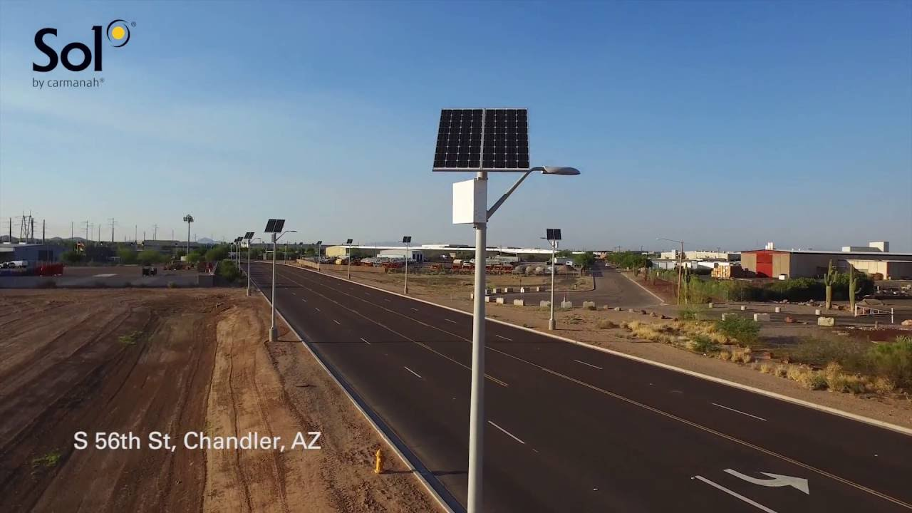 Solar Street Lighting Installation In Chandler Az Sol Inc