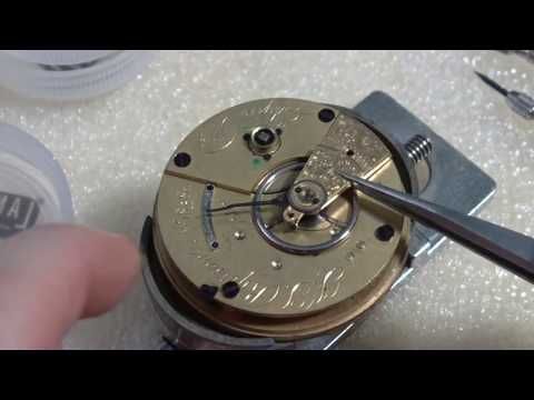 How I take apart a pocket watch movement, Elgin.