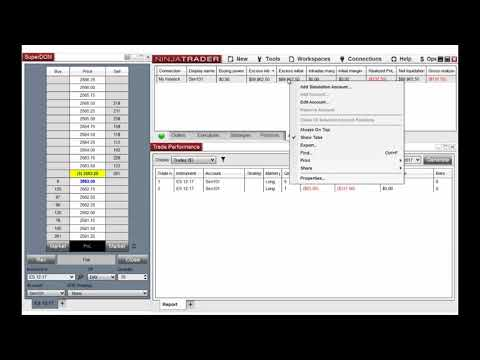 How to Apply a Commission Template in NinjaTrader 8