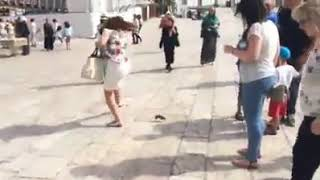 Poor little girl gets rat kicked to her face