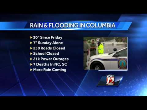 Historic flooding in Columbia, SC